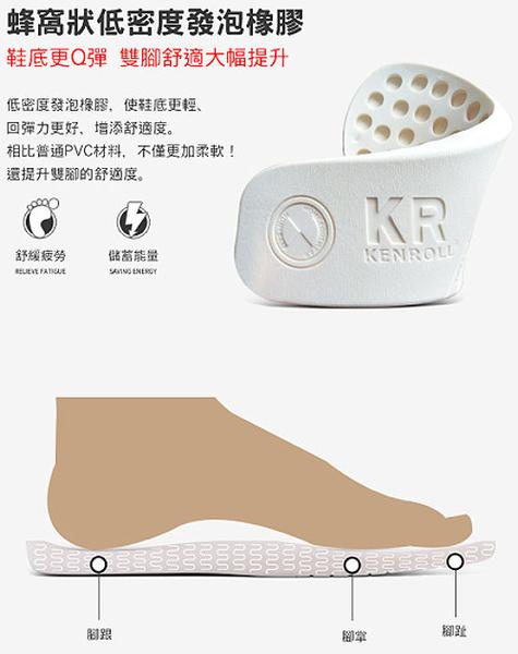 (e鞋院)KENROLL防滑減壓條紋室內拖(買一雙就送一雙珊瑚絨暖冬保暖襪子(隨機出貨)