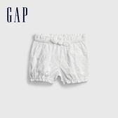 Gap嬰兒 鏤空刺繡透氣短褲 681768-白色