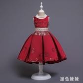 女童表演服 蓬蓬公主裙禮服女寶寶連身裙繡花幼兒園合唱演出服 LF1530『黑色妹妹』