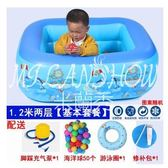 家用嬰幼兒童充氣游泳池成人家庭寶寶加厚小孩超大號戲水池洗澡桶
