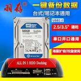 USB2.0多功能雙槽外接硬碟盒IDE/SATA雙介面行動硬碟底座2.5/3.5吋串口/並口帶讀卡器HUB移動盒