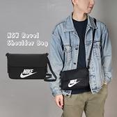Nike 斜背包 NSW Revel Shoulder Bag 黑 白 男女款 方包 側背包 運動休閒 【ACS】 CW9300-010