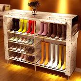 鞋架小鞋櫃布藝簡易經濟型組裝家用鞋架子家里人防塵實木多層