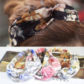 波希米亞絹紗交叉寬髮帶 髮圈 髮箍 髮飾