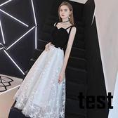 晚禮服女2018新款宴會高貴優雅長款洋裝小禮服名媛氣質聚會連衣裙