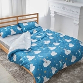 單人 薄床包兩用被三件組 60支紗 100%純天絲(加高35CM)台灣製《月光萌兔》