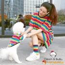 寵物親子裝 狗狗貓咪衣服T恤彩虹泰迪比熊小型犬衣【小獅子】