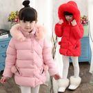 (萬聖節狂歡)女童棉衣女孩冬裝正韓兒童加厚棉襖女大童中長版外套羽絨棉服