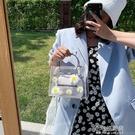 透明手提小包包新款潮果凍超火洋氣斜背包包女包夏百搭單肩包【全館免運】
