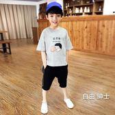 (萬聖節)男童短袖2018新品夏裝男童短袖t恤兒童棉質體恤 夏季正韓潮大童童裝