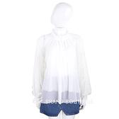 SEE BY Chloe' 米白色花朵澎袖紗質上衣(附內搭背心) 1840359-20