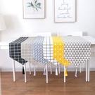 北歐棉麻桌旗餐桌布藝簡約茶幾布碗盤餐墊床旗【英賽德3C數碼館】