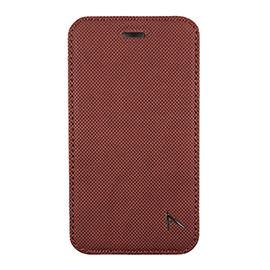 【漢博】Optima iPhone 8 / 7 側掀站立型皮套 針織系列 - 咖啡紅