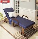 折疊床 折疊床單人辦公午休床雙人陪護加固金屬床雙人午睡沙發床3(主圖款藏青色寬65CM)