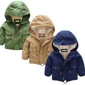 男童刷毛加厚連帽 風衣 大衣 外套  兒童 童裝 夾克 橘魔法Baby magic 現貨 過年