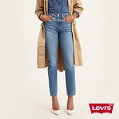 Levis 女款 501Skinny高腰排釦修身窄管牛仔長褲 / 精工中藍染水洗 / 彈性布料