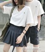 情侶T恤情侶裝裝新款韓版短袖氣質套裝情侶款上衣男女T恤bf風 【傑克型男館】