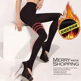 內搭褲 錦綸高密度刷毛瘦腿壓力褲襪 -媚儷香檳- 【SK023】