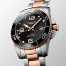 LONGINES 浪琴 深海征服者浪鬼陶瓷潛水機械錶-黑x玫瑰金/41mm(L37813587)
