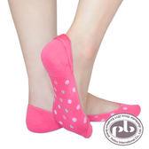 貝柔 超細纖維涼感腳跟止滑隱形襪套6入水玉圓點-(共6色)