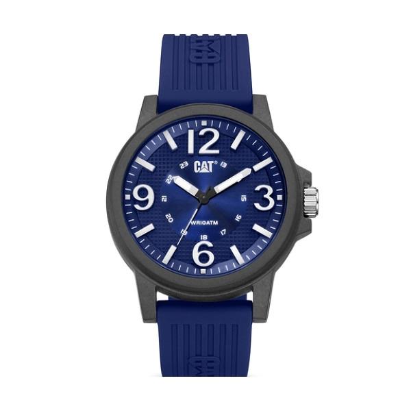 【CAT Watch】GROOVY特殊多層次面盤設計時尚橡膠腕錶-寶藍款/LF.111.26.632/台灣總代理公司貨享兩年保固
