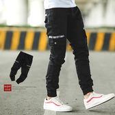 長褲 文字造型多口袋工作褲休閒褲縮口褲【NB0184J】