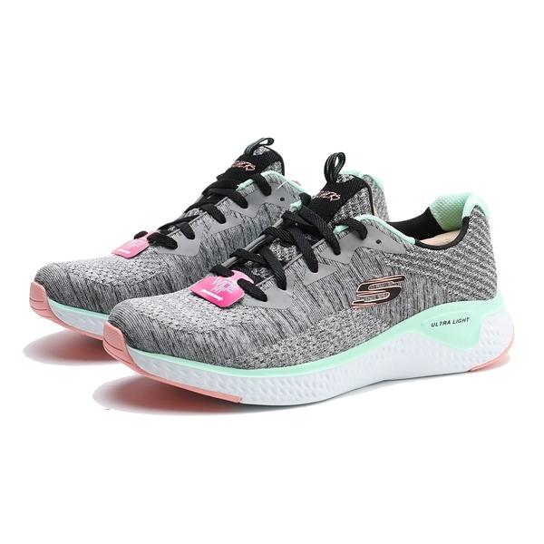SKECHERS 休閒鞋SOLAR FUSE BRISK ESCAPE 灰黑編織 薄荷綠 粉橘 女 (布魯克林) 13328WGYMT