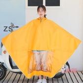 雨衣 黃色女士單人小號電動車專用雨衣電瓶車可愛卡通韓國騎行神器雨披 2色3XL-4XL
