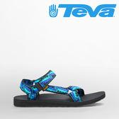 TEVA 男款 ORIGINAL UNIVERSAL 復古織帶涼鞋-圖騰藍x黑 4006SRLB