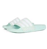 ADIDAS ADILETTE SHOWER 綠 白 防水 海灘 女 拖鞋 (布魯克林) F34913