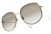 Dior太陽眼鏡 BY DIOR2 00086 (金-漸層灰綠鏡片) 精緻率性多邊框 精品墨鏡 #金橘眼鏡