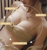 無肩帶內衣 無肩帶文胸調整型無鋼圈內衣女小胸聚攏性感裹胸厚款平胸專用胸罩 優拓