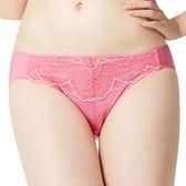 思薇爾-春舞系列M-XL蕾絲低腰三角內褲(春蘭粉)