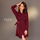 現貨◆PUFII-洋裝 綁帶襯衫連身洋裝-1226 冬【CP17833】