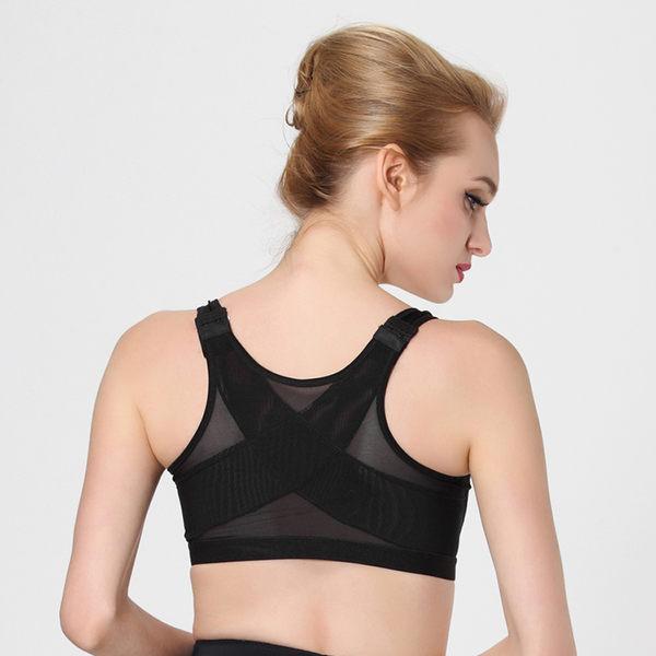 歐美專業防震運動文胸女前搭扣超薄款無鋼圈背心式小胸顯大內衣 胸罩-12367001