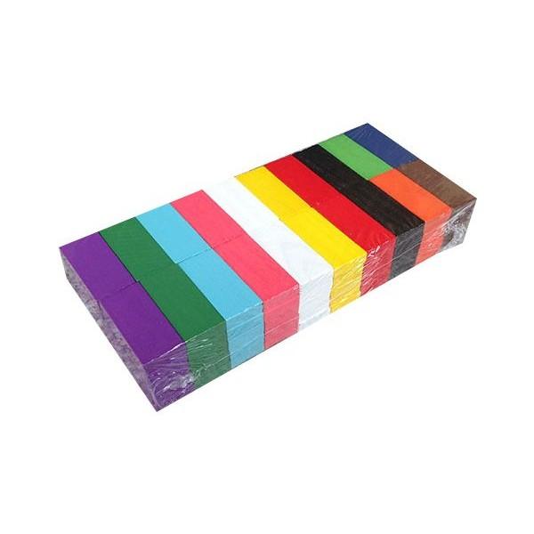 彩虹多米諾木製骨牌(100片) 顏色隨機出貨【小三美日】