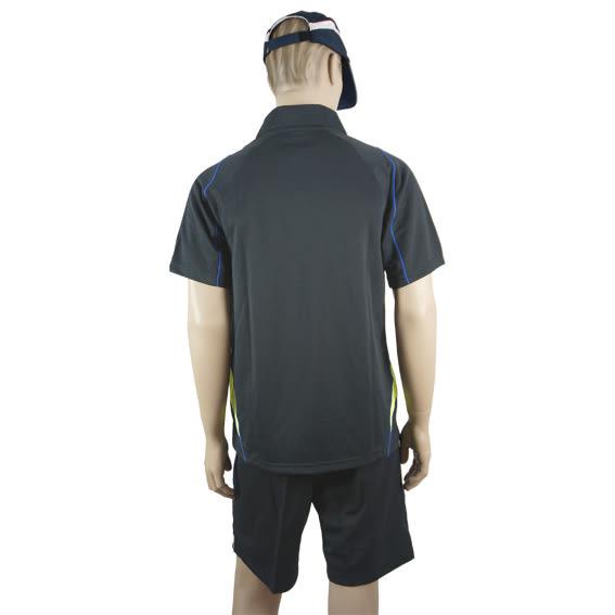 男雙色拼接刺骨POLO衫(點點布)