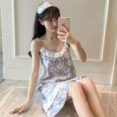 韓版純棉清新可愛甜美吊帶睡裙-艾尚精品 艾尚精品