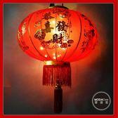 摩達客▶農曆春節元宵◉80cm萬事如意金線大紅燈籠(單入)+LED50燈插電式燈串暖白光(附IC控制器)