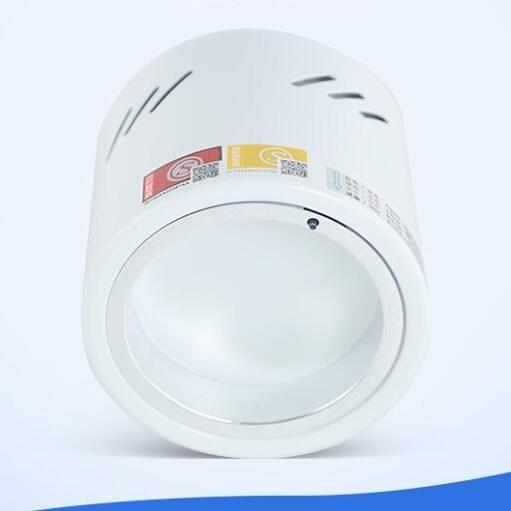 LED感應筒燈天花吸頂隱藏消防照明嵌入式明裝應急筒燈
