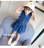 女童夏裝2018新款洋裝兒童韓版3潮衣4-5歲寶寶夏季洋氣牛仔裙子 魔方數碼館
