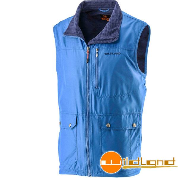Wildland 荒野 0A22706-77中藍色 男防風時尚保暖背心 保暖夾克/休閒背心/防寒中層衣 東山戶外