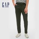 Gap男裝 簡約風格直筒休閒長褲 440943-森林綠