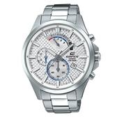 CASIO EDIFICE 時尚格紋錶盤紳士腕錶-白(EFV-530D-7A)