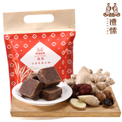禮愫GIFTTOU  黑糖桂圓紅棗薑母茶 (10入)  黑糖薑母茶四合一 養生飲品