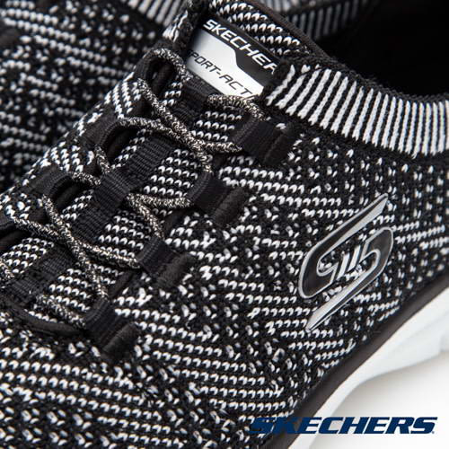 SKECHERS 運動鞋 GALAXIES 22882BKW 女鞋