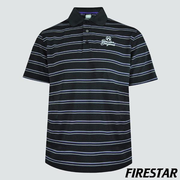 FIRESTAR-男性吸濕排汗POLO衫-黑 D3758-10