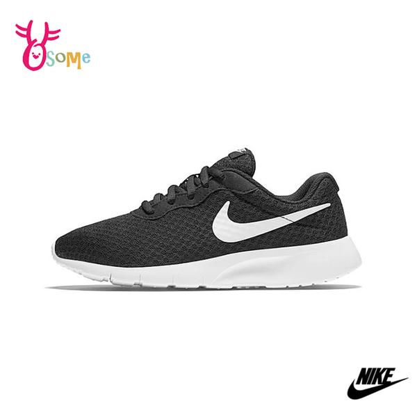 NIKE運動鞋 女鞋 TANJUN GS 黑白基本款 透氣網布 慢跑鞋 跑步鞋 Q7143#黑白◆OSOME奧森鞋業