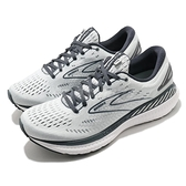 BROOKS 慢跑鞋 Glycerin GTS 19 D Wide 寬楦 灰 白 女鞋 跑步 路跑 緩震 運動鞋 【ACS】 1203441D085