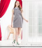 ohoh-mini孕婦裝 率性仿丹寧點點布料無袖上衣